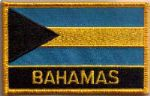 Bahamas Embroidered Flag Patch, style 09.